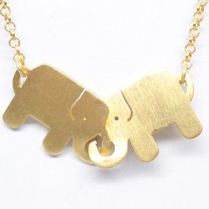 Jewelry - Vermeil 925 Elephant Necklace